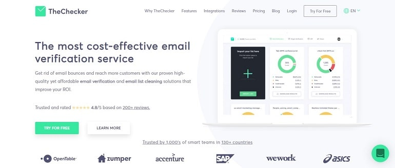 Email Checker & Email Verification Service _ TheChecker