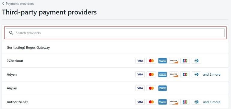 List of payment gateway provider