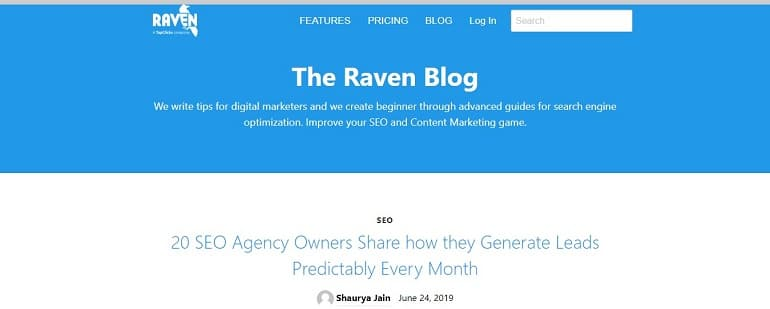 Raven Blog - The #1 Source for Internet Marketing Agencies