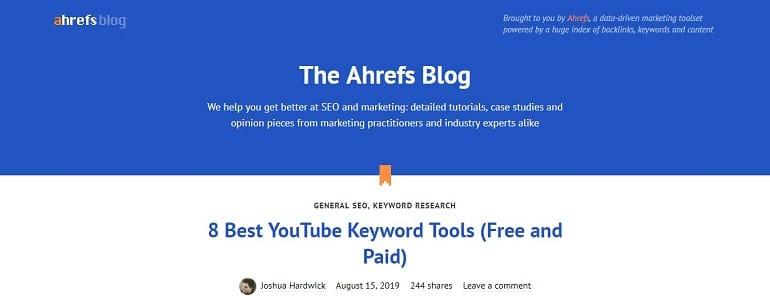 SEO Blog by Ahrefs - Link Building Strategies & SEO Tips