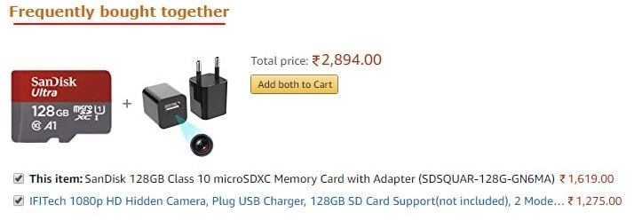 frequently bought togather product recommendations in amazon