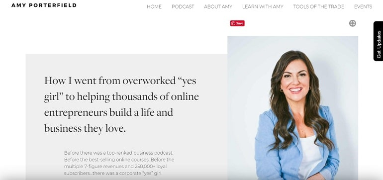 Amy porterfield about us page