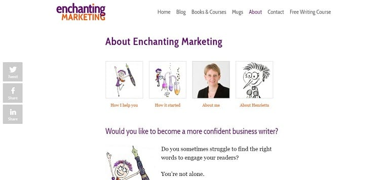 Enchanting marketing about us page