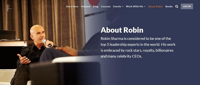 Robin sharma about us page