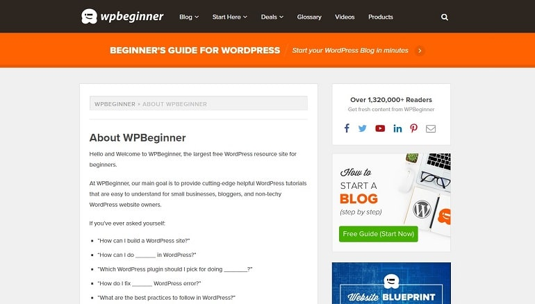 WPBeginner about page