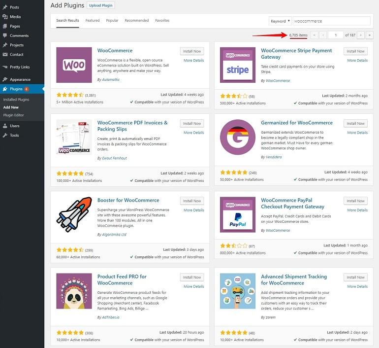 Wordpress plugin library