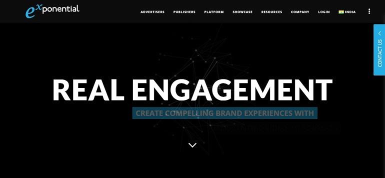 Exponential ad network platform