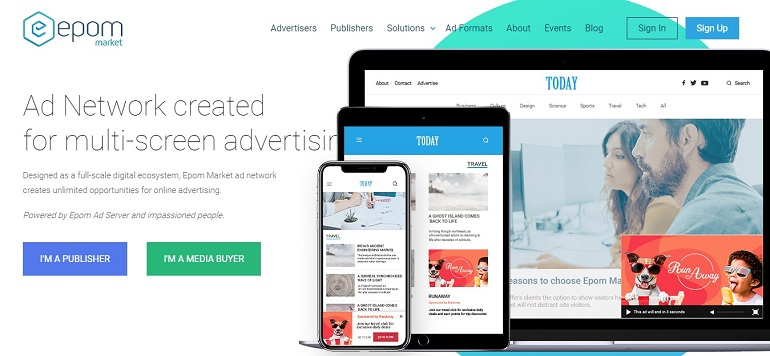 Global Ad Network for Publishers and Advertisers - Epom Market