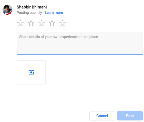 pop-up window asking for customer reviews in gmb tool