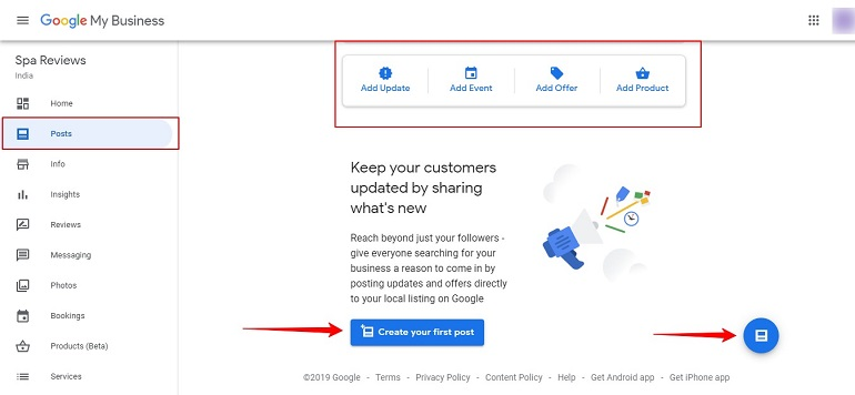 Create Post Google My Business