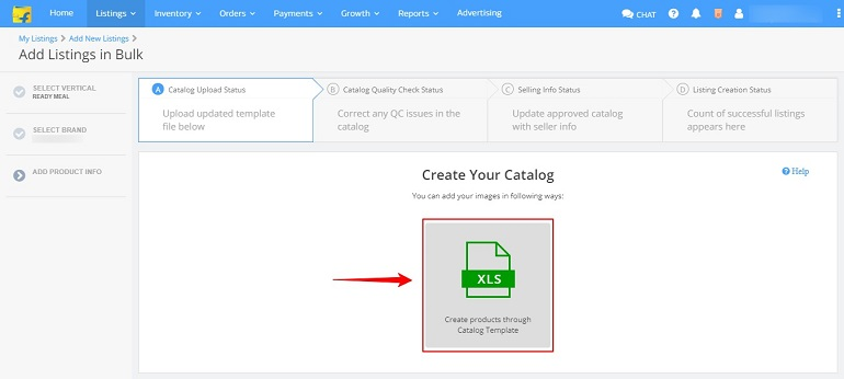 create your catalog in flipkart