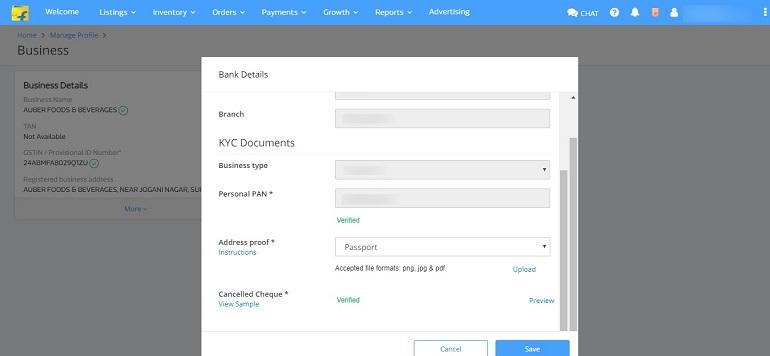 kyc documents upload in flipkart