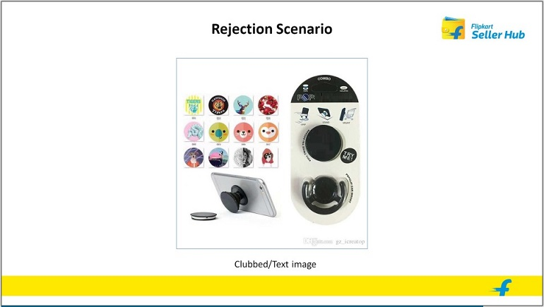 rejected product image with text in flipkart