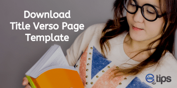 Download Title Verso Page Template For ISBN