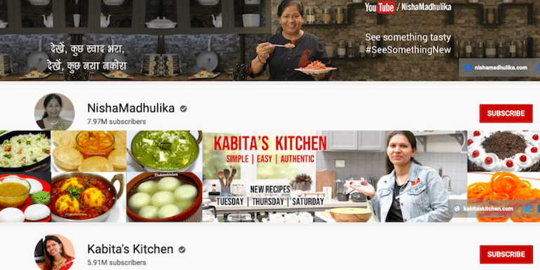 100 Best Indian Food and Recipe YouTube Channels