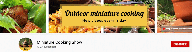 miniature cooking show youtube