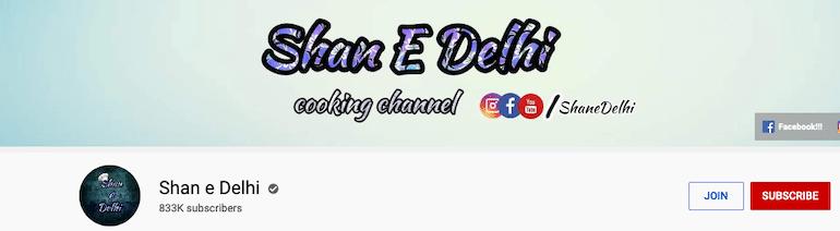 shan e delhi indian recipes blogger youtube