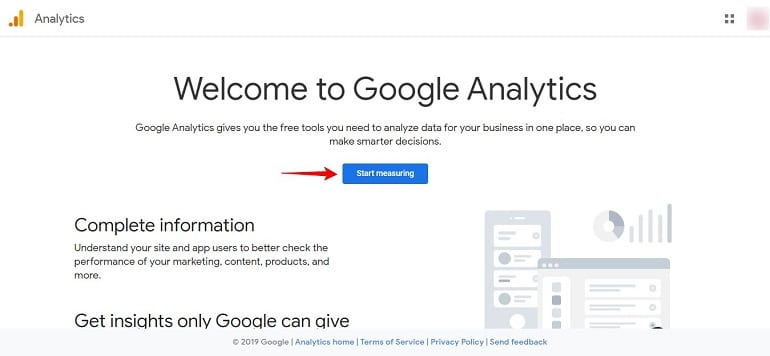 welcome to google analytics page 1