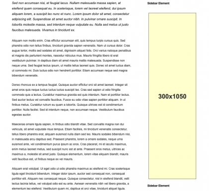 300x1050 Adsense Banner Size Placement