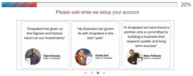 account setup progress bar