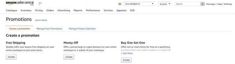 promotion tools in amazon india