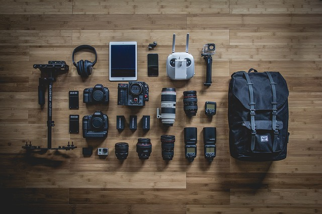 right photography equipments