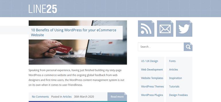 Line25 Web Design Blog