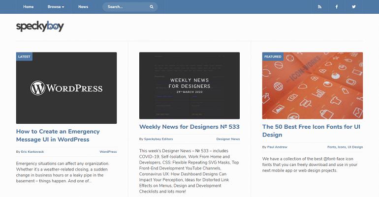 Speckyboy Design Magazine - Design News Resources Inspiration