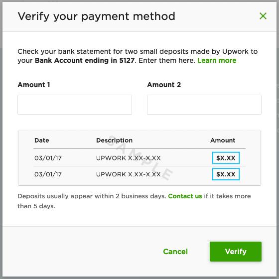 Verification Amount