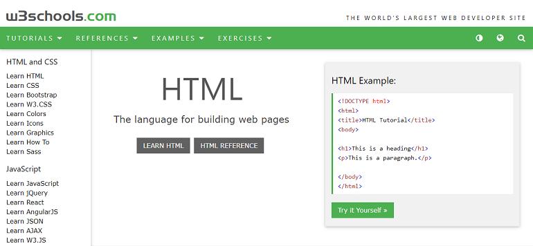 W3Schools Online Web Tutorials