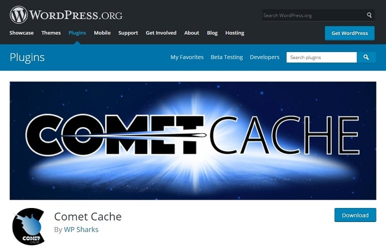 comet-cache-download-page