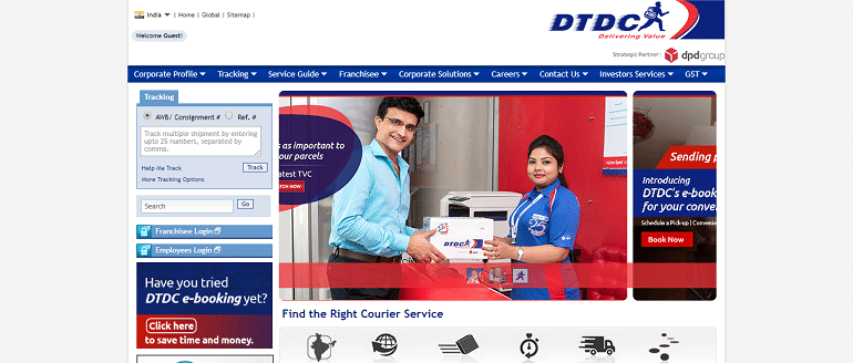 DTDC courier company in india