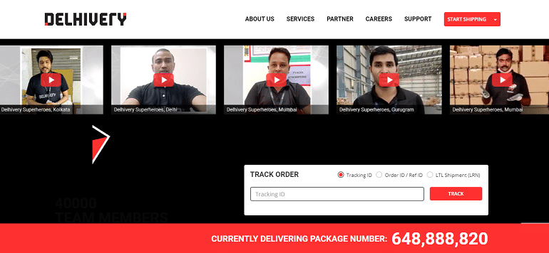 Delhivery courier pickup and delivery online shipping services logistics