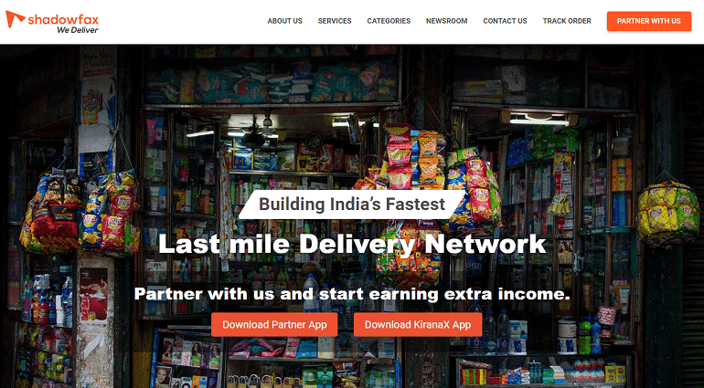 Shadowfax last mile shipping logistics delivery services india