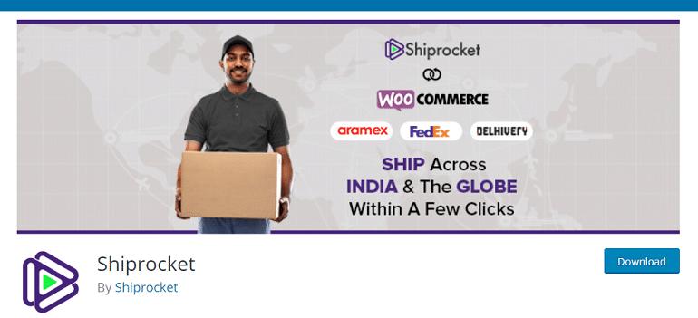 Shiprocket wordpress shipping plugin