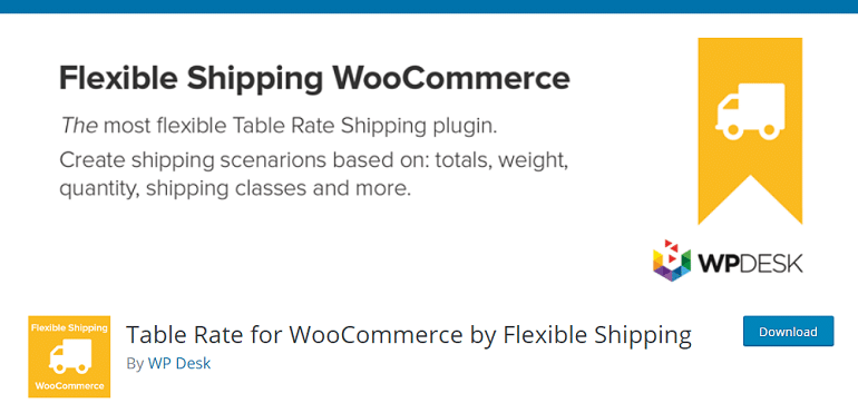 Table Rate for WooCommerce by Flexible Shipping – WordPress plugin