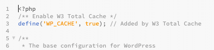 W3 Total Cache Config