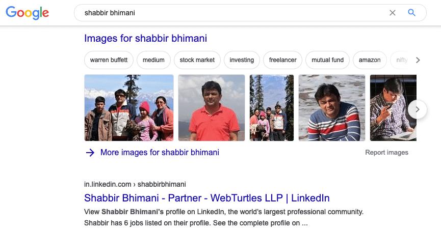 LinkedIn Profile in Google Search Results for SEO