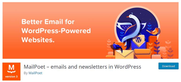 MailPoet emails marketing wordpress woocommerce store