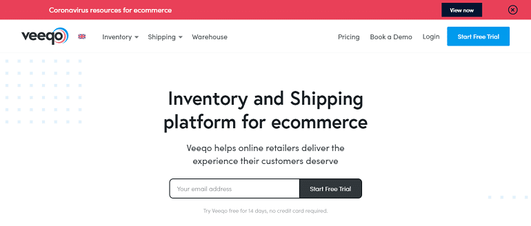 Veeqo inventory & shipping platform for ecommerce