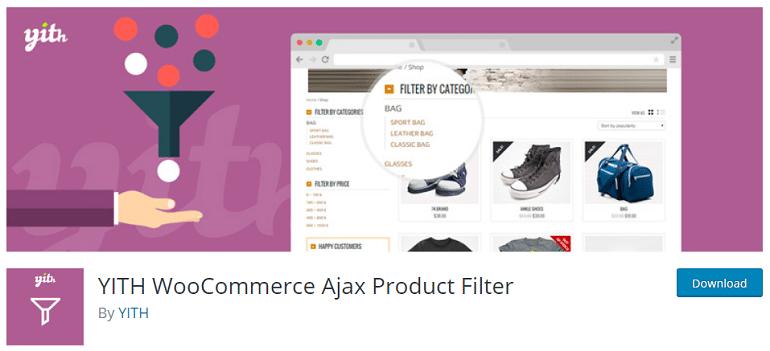 YITH woocommerce wordpress ajax product filter plugin