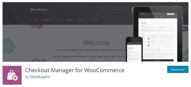 checkout manager woocommerce wordpress plugin