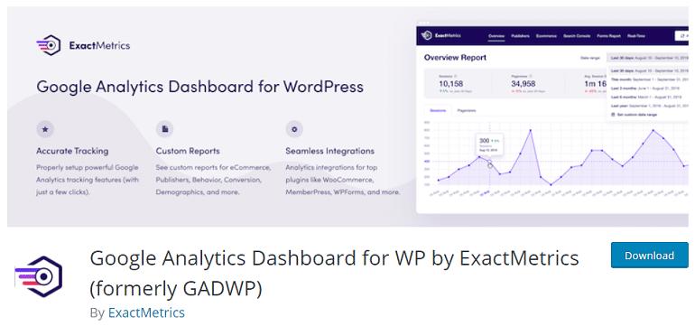 google analytics dashboard plugin wordpress woocommerce ExactMetrics
