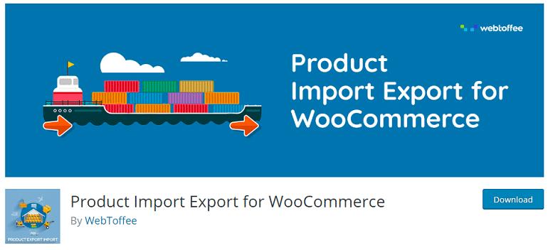 product import export woocommerce wordpress plugin