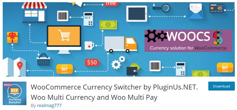 woocommerce wordpress currency switcher plugin
