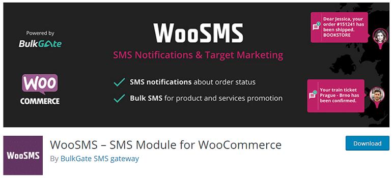 woosms module for woocommerce wordpress plugin