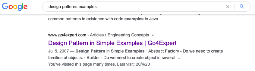 Design Patterns Examples - Google Search